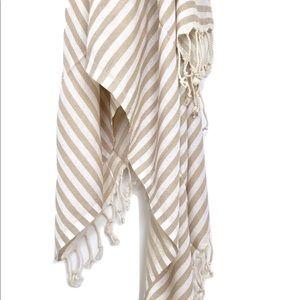 Signature Turkish Towel/Throw - Beige Stripe